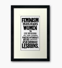 Feminism in Black & White Framed Print
