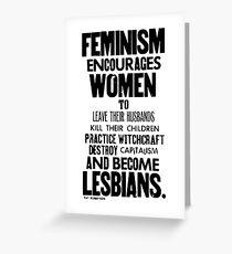 Feminism in Black & White Greeting Card