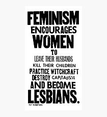 Feminism in Black & White Photographic Print