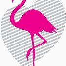 love flamingos by logoloco