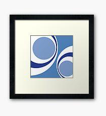 blue retro Framed Print