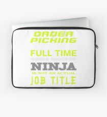 ORDER PICKING - JOB TITLE SHIRT AND HOODIE Laptop Sleeve