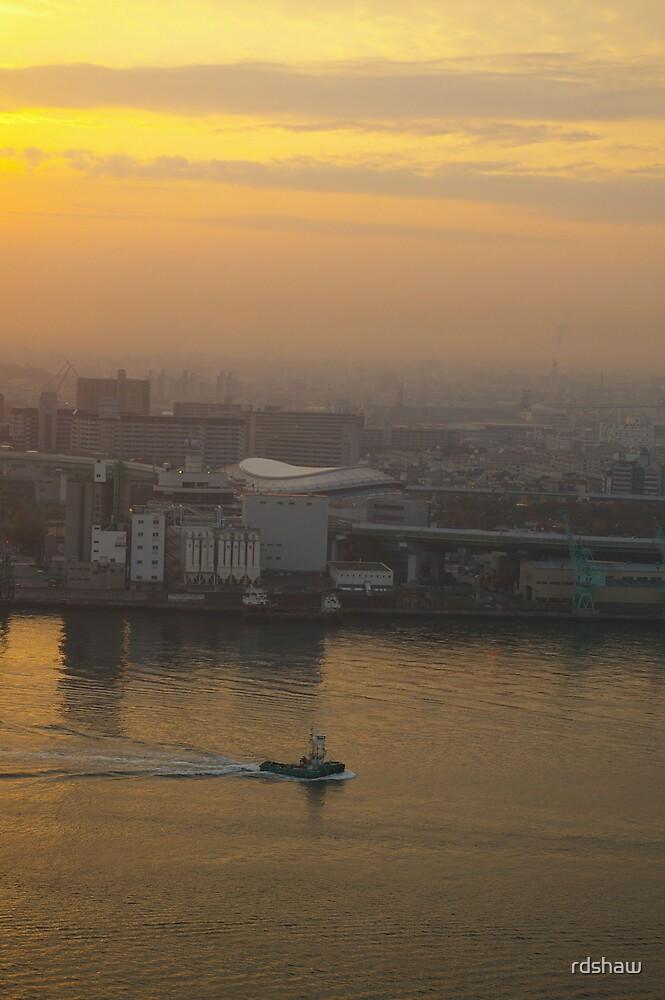 Osaka Harbor Sunrise by rdshaw