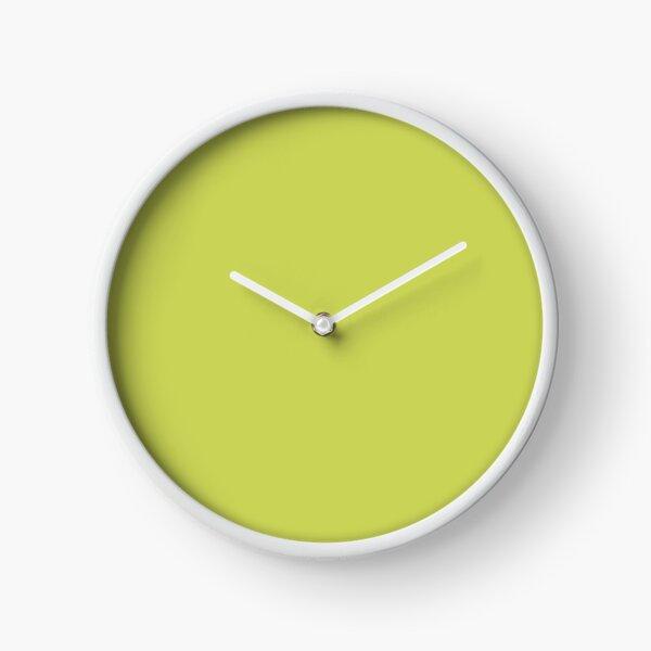 Sage Lemongrass  Lime avocado Green  Clock