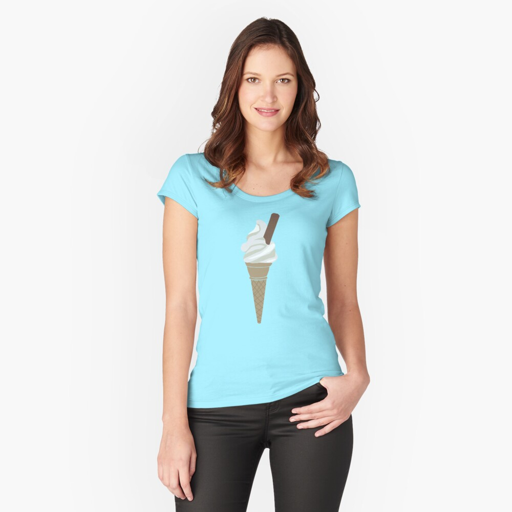 Summer at the coast Fitted Scoop T-Shirt