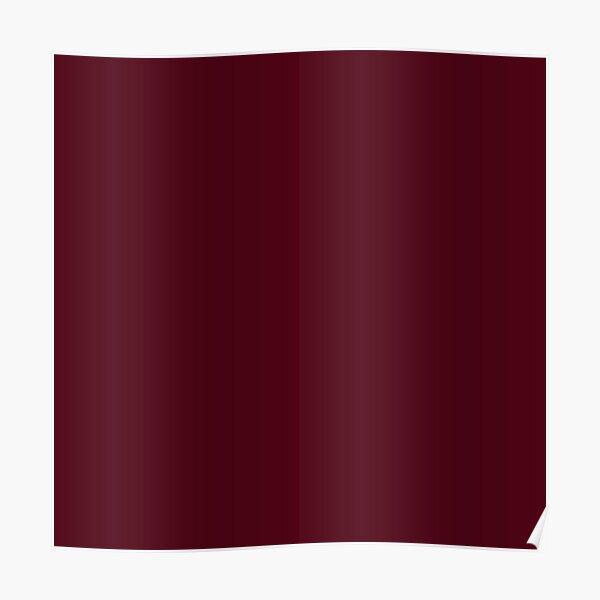 Elegant Gothic Solid Color Burgundy Red Plum  Poster