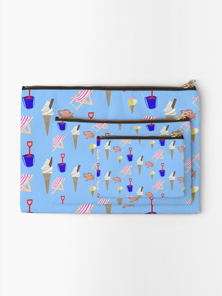 Alternate view of Summer at the coast Zipper Pouch