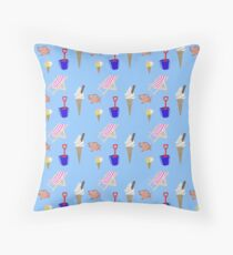Summer at the coast Throw Pillow