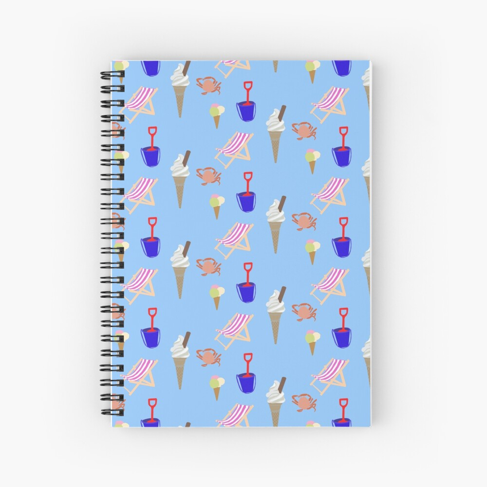 Summer at the coast Spiral Notebook