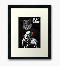 The Catfather Movie Parody Framed Print