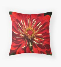 """Extremely """"Rich"""" Red Throw Pillow"""