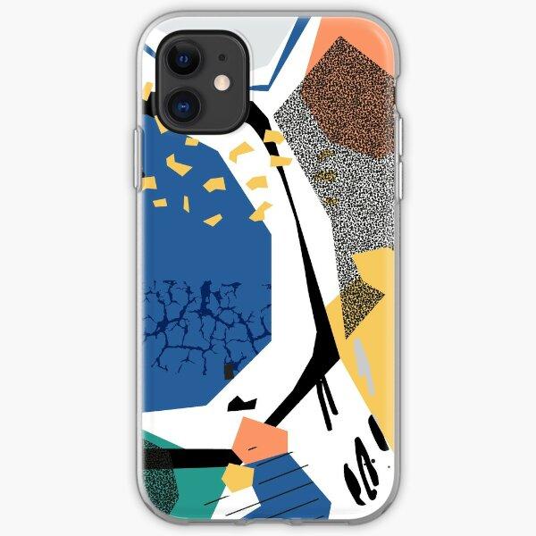 Best Friends // Abstract Pattern Memphis Art iPhone Soft Case