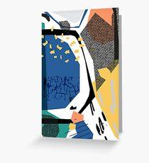 Best Friends // Abstract Pattern Memphis Art Greeting Card