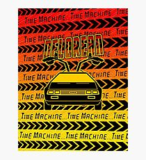 Delorean Time Machine Photographic Print