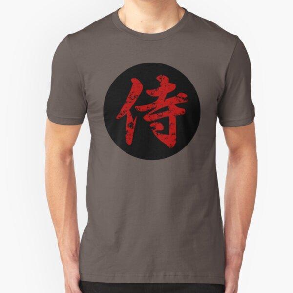 Samurai Kanji Art5 Slim Fit T-Shirt
