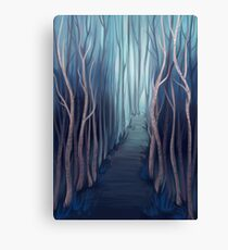 Blue Forest Canvas Print
