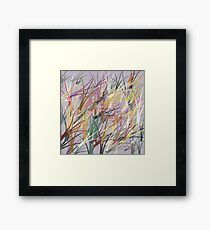 Random Pattern illustrator Framed Print