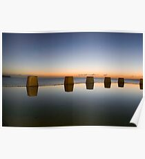 Coogee Beach Baths Sunrise Poster