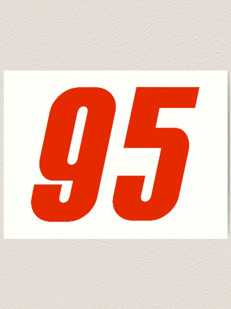 95 Lightning Mcqueen Number Cars 3 Art Print By Justbrian