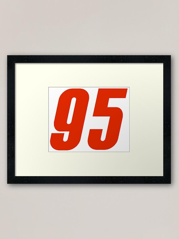 95 Lightning Mcqueen Number Cars 3 Framed Art Print By Justbrian