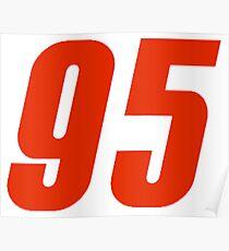 95 Lightning Mcqueen Number Cars 3  Poster