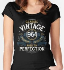Classic Vintage Aged to Perfection 1964 T-shirt Women's Fitted Scoop T-Shirt