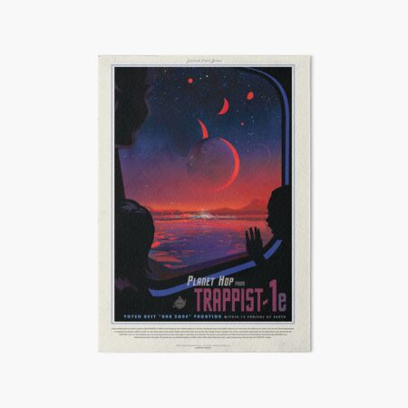 NASA Space Tourism Posters: Trappist 1 Art Board Print