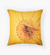 Insect On Wild Flower Throw Pillow