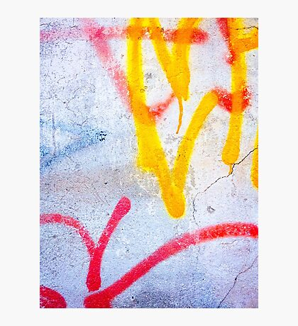 Yellow meets red Photographic Print