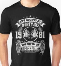 Born In 1981 T-Shirt