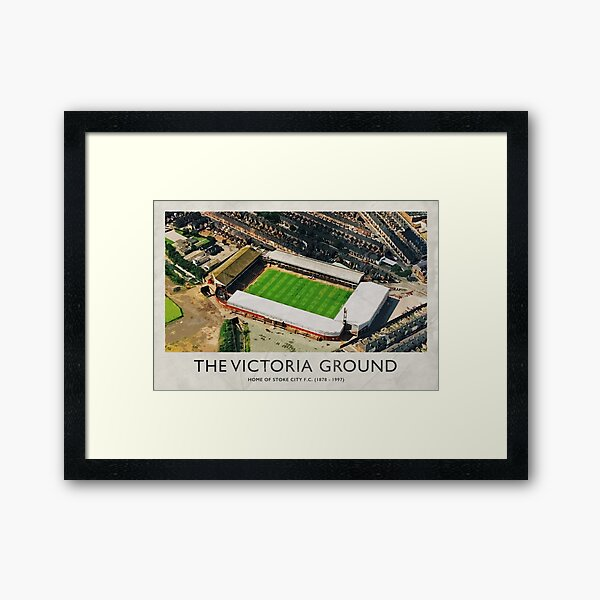 Vintage Football Grounds - The Victoria Ground (Stoke City FC) Framed Art Print