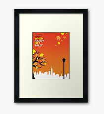 When Harry Met Sally // Minimalist Art Framed Print