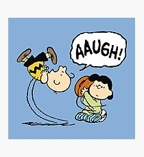 CHARLIE BROWN AND LUCY FOOTBALL Photographic Print