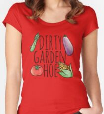 Dirty Garden HOE gardening Women's Fitted Scoop T-Shirt