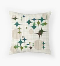 Eames Era Starbursts and Globes 1 (bkgrnd) Throw Pillow
