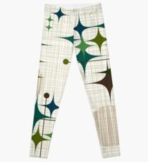 Eames Era Starbursts and Globes 1 (bkgrnd) Leggings