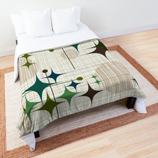Eames Era Starbursts and Globes 1 (bkgrnd) Comforter