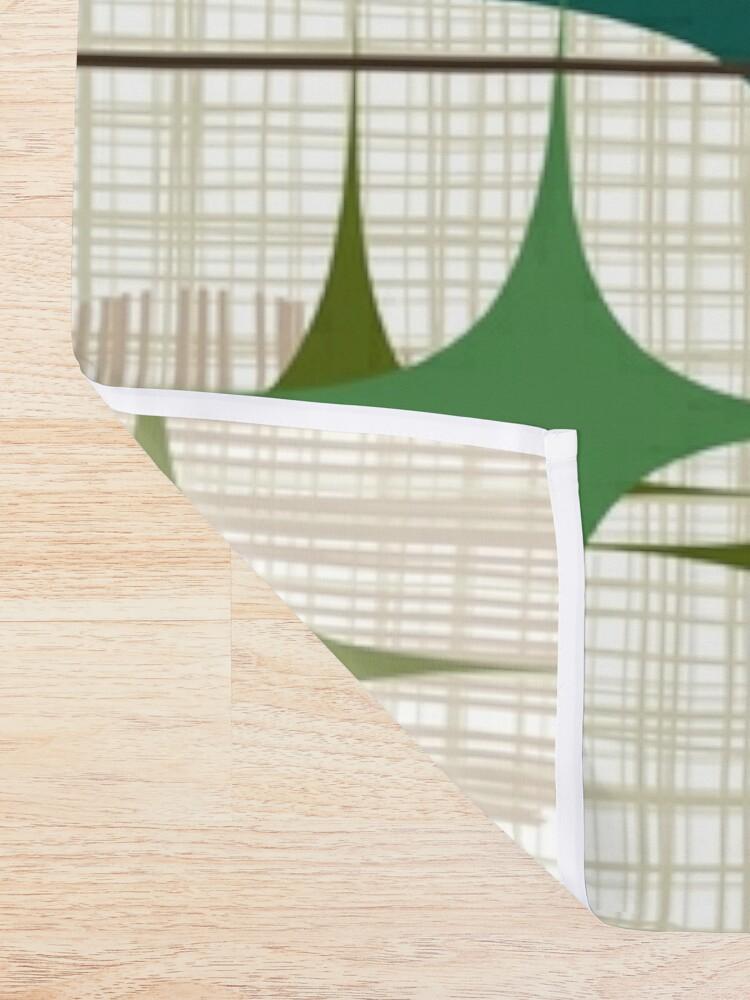 Alternate view of Eames Era Starbursts and Globes 1 (bkgrnd) Shower Curtain