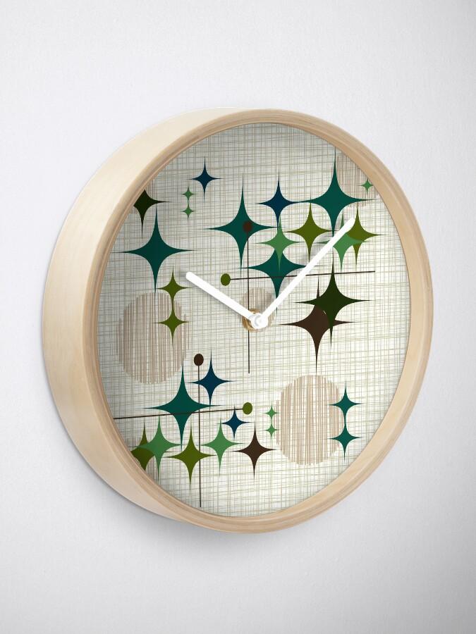 Alternate view of Eames Era Starbursts and Globes 1 (bkgrnd) Clock