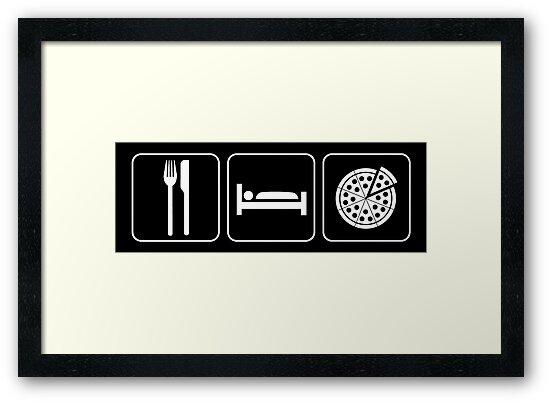 Food Sleep Pizza by Pixelchicken