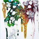Chaos Color Abstract by rebeccagalardo