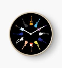 Guitars Clock