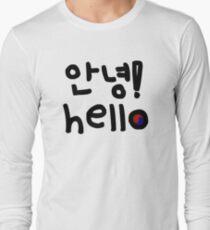 Hello Annyeong 안녕 Long Sleeve T-Shirt