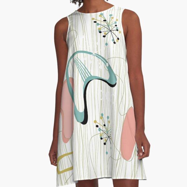 Retro Eames-Era Atomic Inspired 3 A-Line Dress