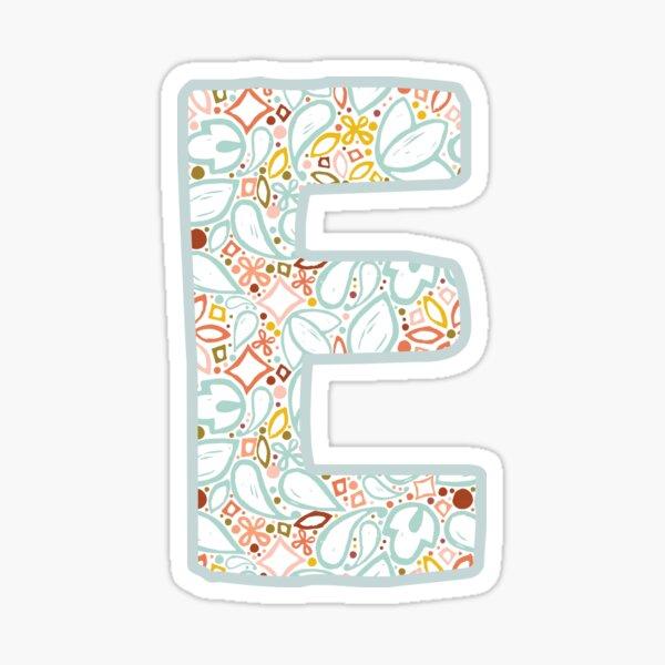 Letter E - Monogram Sticker