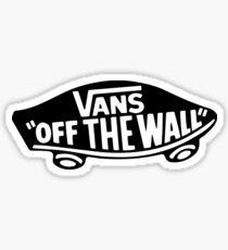 Vans Black Logo Sticker
