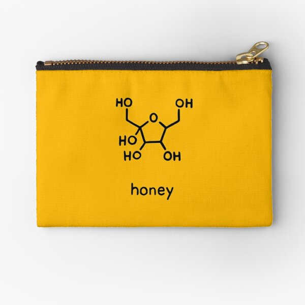Honey Chemistry Sugar Molecule  Zipper Pouch