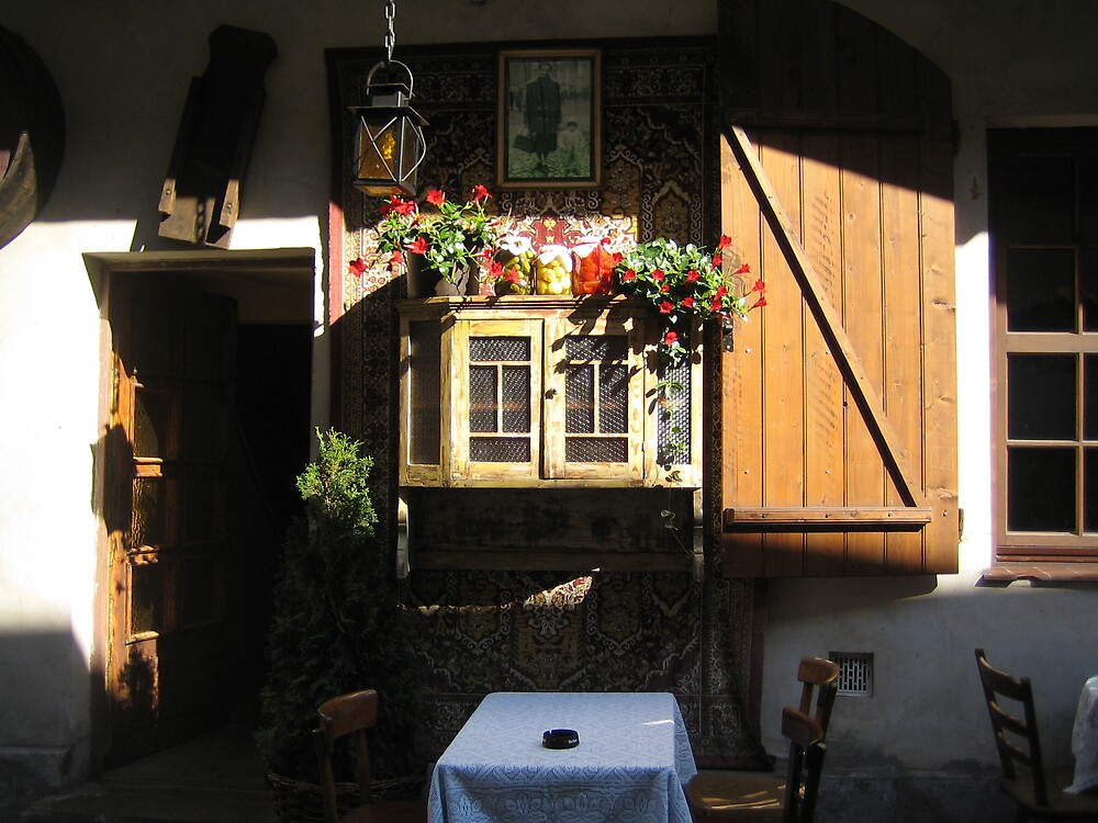 Krakow restaurant frontage by nerrim