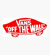 Vans Red Logo Photographic Print