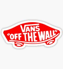 Vans Red Logo Sticker
